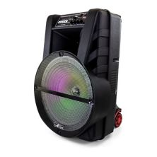 beFree Sound 15-Inch Bluetooth Portable Rechargeable Party Speaker with LED Lights BeFree Sound