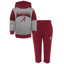 Preschool Gray/Crimson Alabama Crimson Tide Sideline Hoodie & Pants Set Outerstuff
