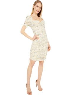 Мини-платье с рюшами Bardot