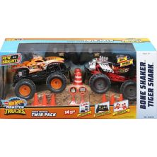 New Bright 1:24 RC Hot Wheels Monster Truck Twin-Pack: Bone Shaker and Tiger Shark New Bright