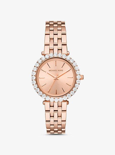 Часы Darci Pavé цвета розового золота Michael Kors