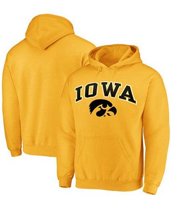 Мужская золотистая толстовка с капюшоном Iowa Hawkeyes Campus Campus Fanatics