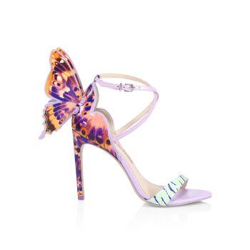 Кожаные сандалии Chiara с леопардовым принтом Sophia Webster