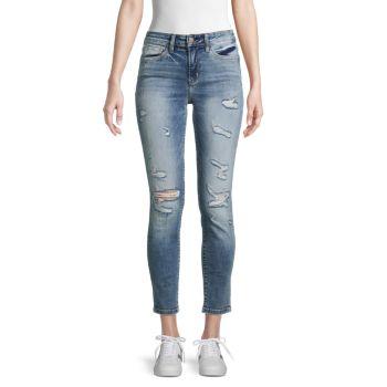 Рваные джинсы до щиколотки со средней посадкой FLYING MONKEY