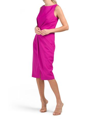 Платье без рукавов со складками JS Collections