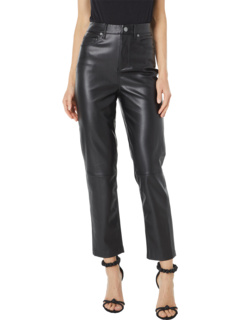 Need You Tonight - Leather Five-Pocket High-Rise Pants Blank NYC