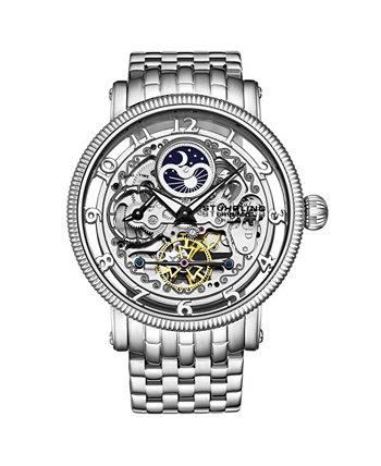 Мужские серебряные часы-браслет из нержавеющей стали 49мм Stuhrling