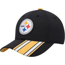 Youth Black Pittsburgh Steelers Sport Tech Snapback Hat Outerstuff