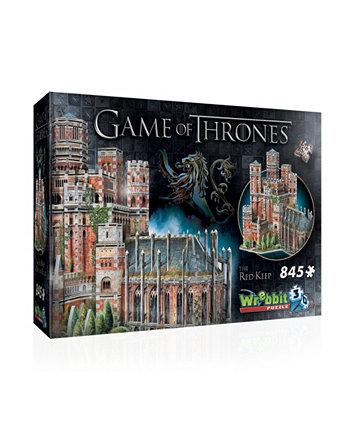 Игра престолов - красный пазл 3D Keep - 845 штук Wrebbit