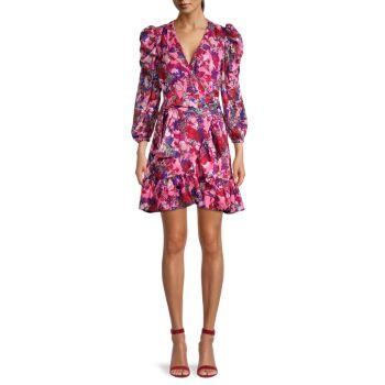 Цветочное платье Sasha с запахом Tanya Taylor