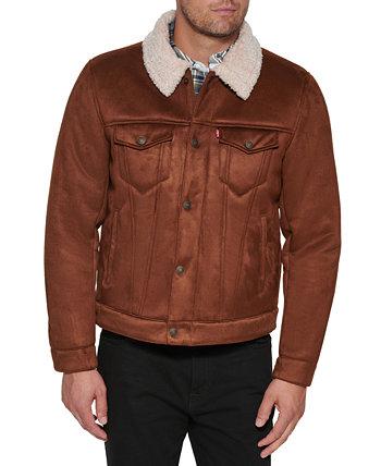 Мужская куртка-бегунок свободного кроя из искусственной овчины Levi's®