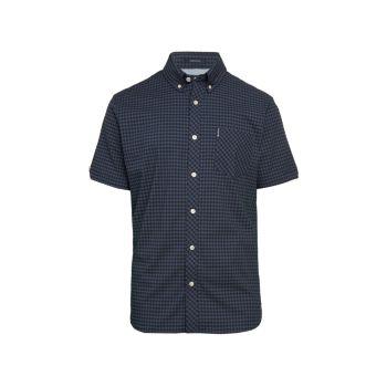 Рубашка с коротким рукавом с принтом в мелкую клетку Ben Sherman