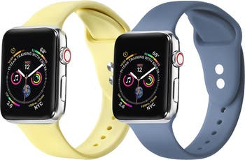 Сменный ремешок для Apple Watch, желтый / атлантический синий - набор из 2 шт. - 42 мм / 44 мм POSH TECH
