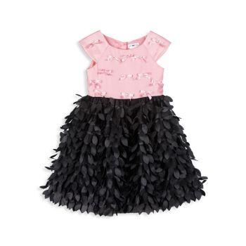 Маленькая девочка & amp; Платье для девочки с короткими рукавами Joe-Ella