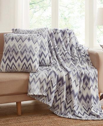 Набор декоративных подушек и пледов в полоску Vesper из 3 предметов Infinity Home