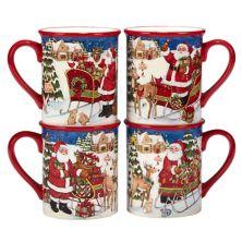 Certified International Santa's Workshop 4-pc. Mug Set Certified International