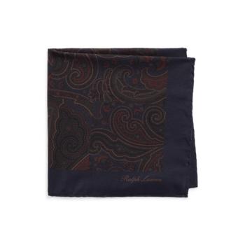 Размер нагрудного платка из шелка пэчворк с узором пейсли Ralph Lauren