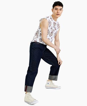 Мужские джинсы Kingsley свободного кроя с заплатками, созданные для Macy's Sun + Stone