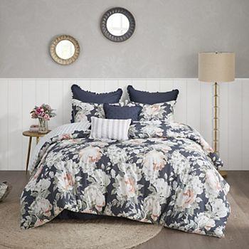 Madison Park Kalina Cotton Printed Reversible Comforter Set Madison Park