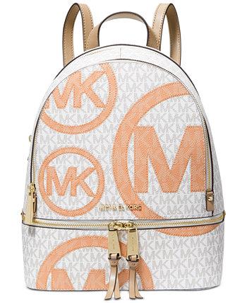 Рюкзак среднего размера Signature Rhea на молнии Michael Kors