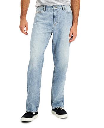 Выцветшие мужские джинсы свободного кроя, созданные для Macy's Sun + Stone