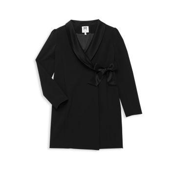 Платье-пиджак для девочек с запахом Milly Minis