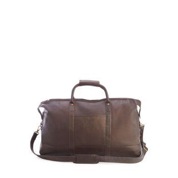 Роскошная колумбийская кожаная дафл-сумка Weekender ROYCE New York