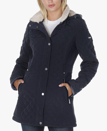 Стеганое пальто Petite с подкладкой из шерпы Laundry by Shelli Segal
