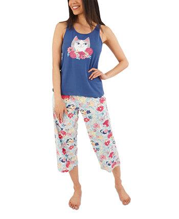 Пижамный комплект Flower Kitty Capri Munki Munki