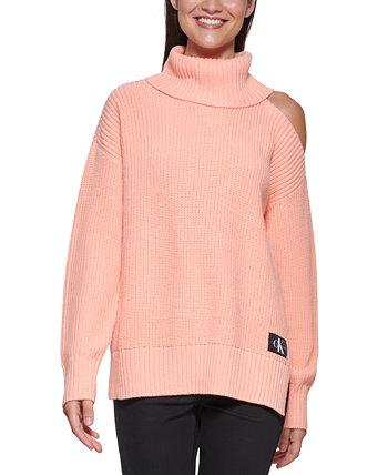 Свитер с вырезом на плечах Calvin Klein