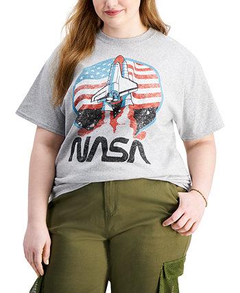 Модная футболка больших размеров Nasa Launch Love Tribe