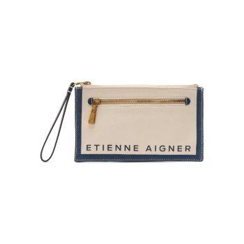 Сумка из плотной ткани с логотипом Faye Etienne Aigner