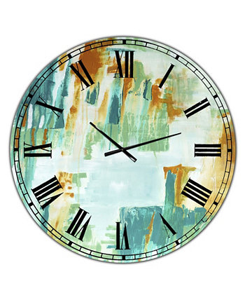 """Справа Крупные современные настенные часы - 36 """"x 28"""" x 1 """" Designart"""