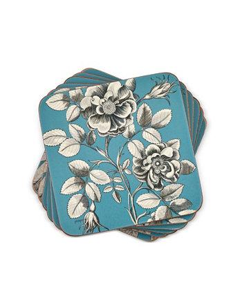 """Офорты """"Голубые розы"""" от Sanderson Coasters, набор из 6 шт. Pimpernel"""