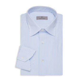Modern-Fit Striped Dress Shirt Canali