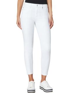 Ярко-белые устойчивые джинсы скинни до щиколотки с высокой посадкой Abby Liverpool