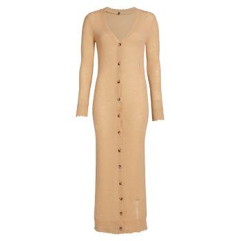Платье-кардиган из рваного кашемира R13