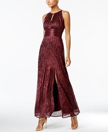Вязаное металлизированное платье на бретельках с каплевидным вырезом R & M Richards