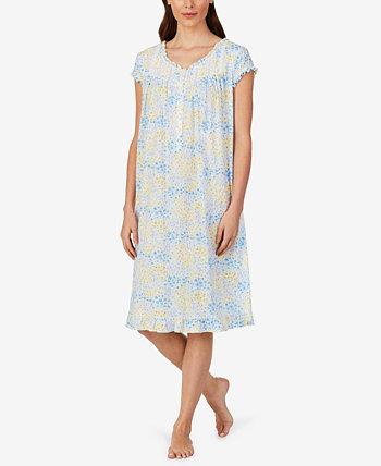Ночная рубашка вальс с оборками и цветочным принтом Eileen West