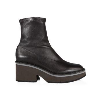 Кожаные ботинки Albane на платформе Clergerie