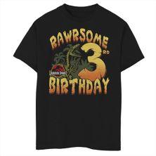 Футболка для мальчиков 8-20 Jurassic Park Rawrsome с рисунком на третий день рождения Jurassic Park
