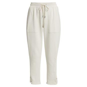 Укороченные брюки французского терри без застежки ATM Anthony Thomas Melillo