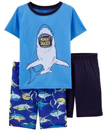 Пижамы свободного кроя Little Boys Shark, 3 шт. Carters