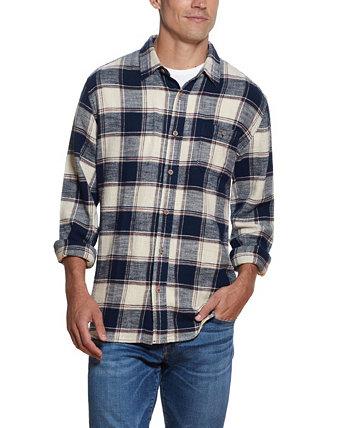 Мужская рубашка из тканого твила в клетку Slub Weatherproof Vintage