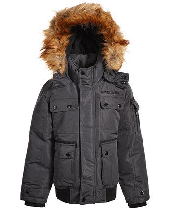 Куртка-бомбер Big Boys с отделкой из искусственного меха Diesel