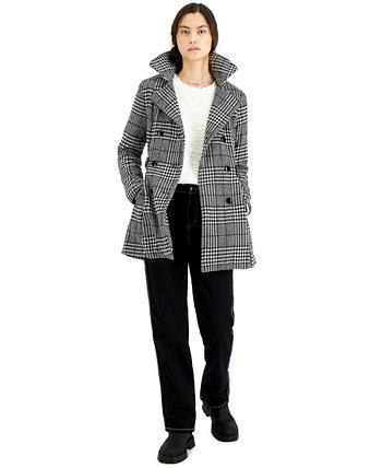 Двубортное пальто юниорское в клетку BCX
