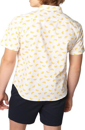 Рубашка обычного кроя с короткими рукавами и оранжевым принтом PUBLIC ART