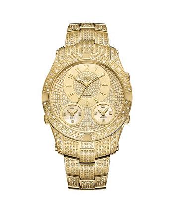 Мужские часы Jet Setter III с бриллиантом (1 карат) из нержавеющей стали с покрытием из 18-каратного золота JBW