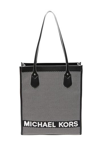 Большая сумка с кожаной отделкой Michael Kors