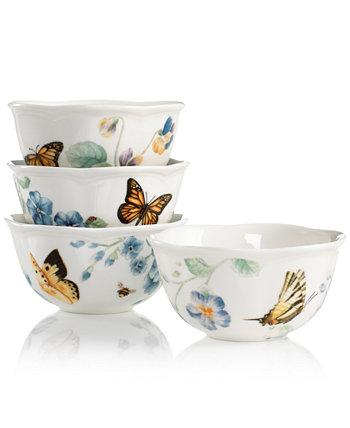 Набор из 4 чашек-ассорти Butterfly Meadow Blue Lenox